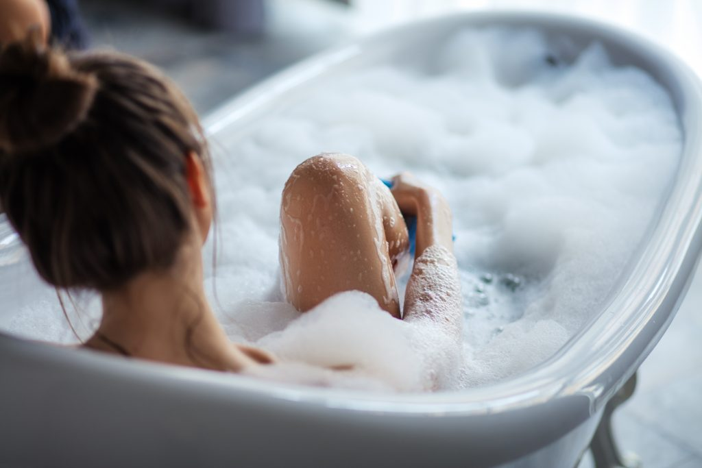 Taking a Bath improves your chances of a better nights sleep